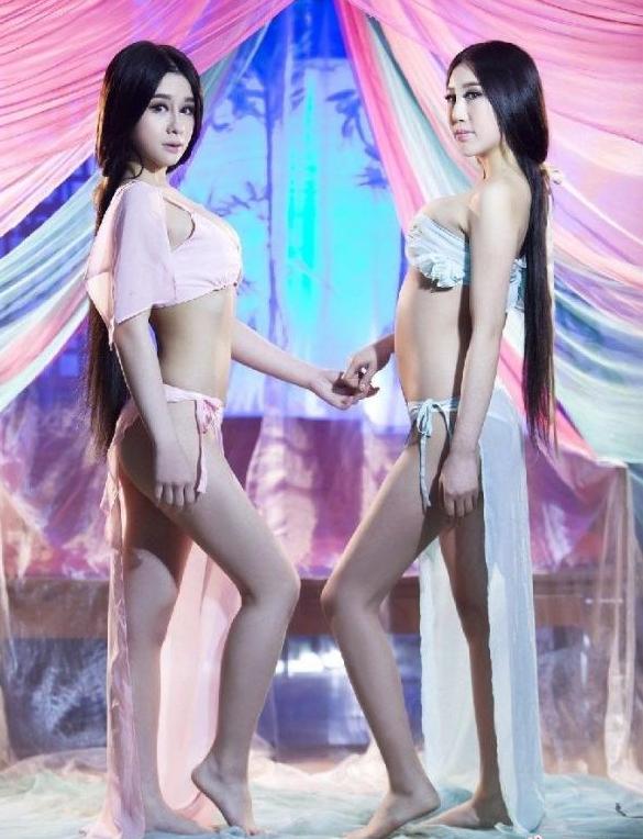 美腿组合Momo Fox2014古装静态电影《赤壁之大小乔》