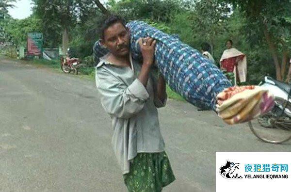 印度赤贫男子扛妻遗体步行12公里 无钱雇车令人心酸