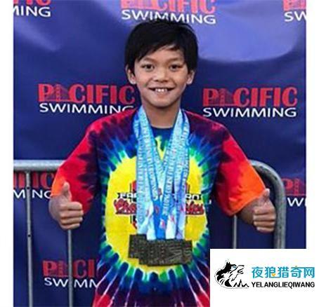 美13岁男童破菲鱼23年纪录 100蝶快超1秒